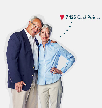 Image of an elderly couple earning CashPoints
